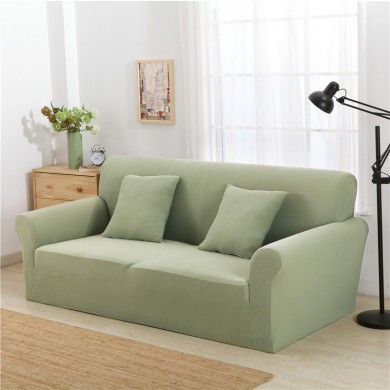 KCASA KC-PCP2 Jacquard Thickened Knit Sofa Covers Polyester Spandex Fabric Slipcovers Solid Color Sofa Protector Cover
