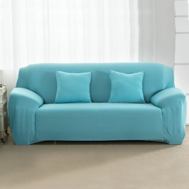 Honana High Elastic Washable Anti Mite Pure Color Fabric Sofa Protector Sofa Cover Home Slipcover