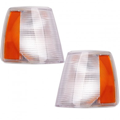 Side Parking Corner Light Covers Clear Lens Front Left+Right for Volvo 740 940 960