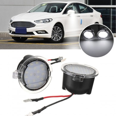18 LED Under Mirror Puddle Light White Pair for Ford S-Max Mondeo Edge 605