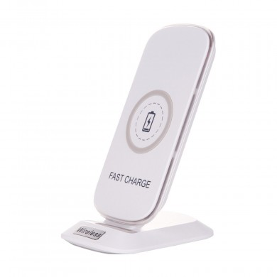 HH-02 QI Fast Charge 5V 2A Vertical Holder Wireless Charger for Mobile Phone