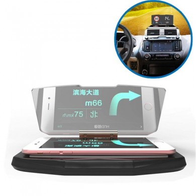 Car HUD Qi Wireless Charger Head Up Navigation Display Glass Reflector for iPhone 8 Samsung S8