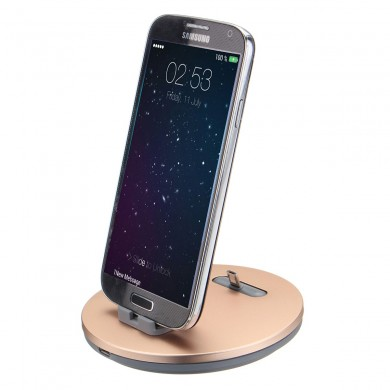2 in 1 Qi 5V 2A Wireless Charger With Holder Dock Station for Samsung Xiaomi Huawei