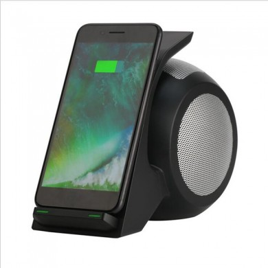 Bakeey 3 in 1 NFC Qi Caricatore senza fili Bluetooth Altoparlante con luce a led Per iPhone X 8Plus S8 Note 8