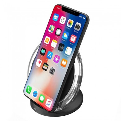 Bakeey Qi Wireless Charger Desktop Holder With LED Indicator For iPhone X 8 8Plus Samsung S8 Note 8