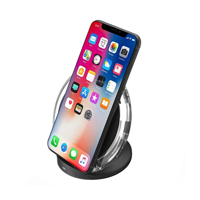 best sneakers fa992 d71e4 Bakeey Qi Wireless Charger Desktop Holder With LED Indicator For iPhone X 8  8Plus Samsung S8 Note 8