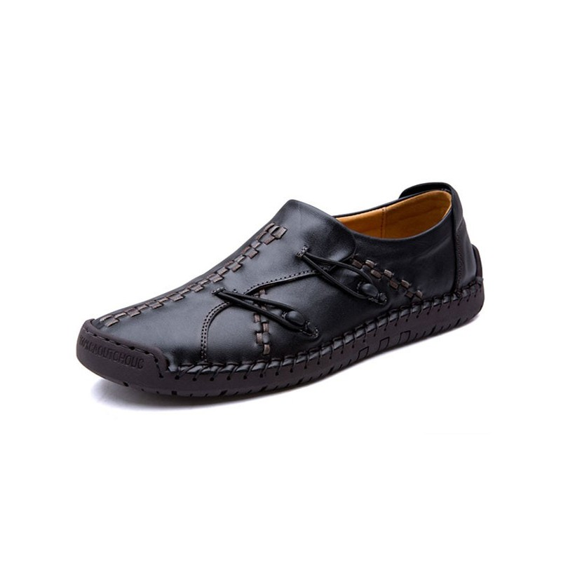 Men Comfortable Genuine Leather Soft Sole Oxfords (Color: Black, Size(US): 10) фото