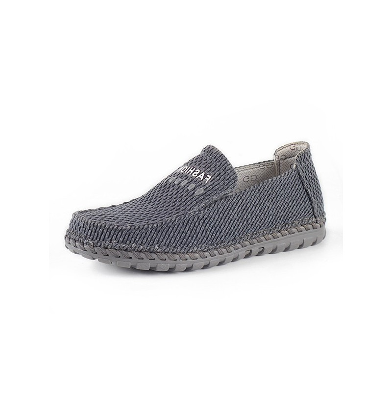 Men Breathable Casual Woven Style Slip On Cloth Oxfords (Color: Blue, Size(US): 9) фото