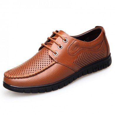 Hombres Transpirable Microfibra Casual Soft Oxfords