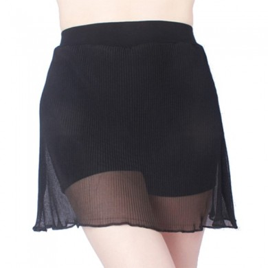Plus Size Pleated Chiffon Skirt A-line Modal Third Safety Panty Culotte For Woman