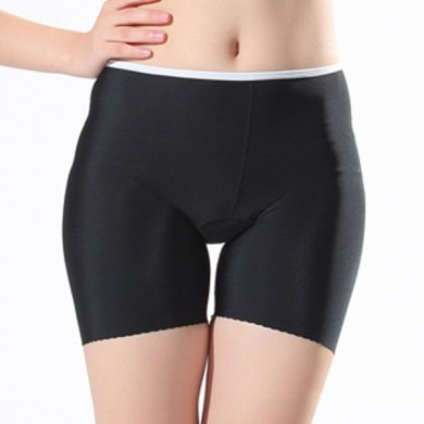 Woman Comfort Seamless Ice Silk Breathable Yoga Fitness Boxer Brief  Elastic Safety Sports Shorts