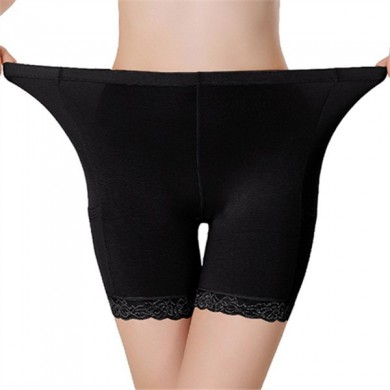 Comfortable Bamboo Lace Seamless Safety Trousers Elastic Safety Panties