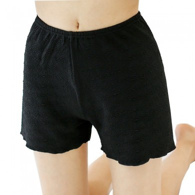 Stretchy Figured Bubbles Panties Wavy Edge Hip Lifting Thickening Boyshorts
