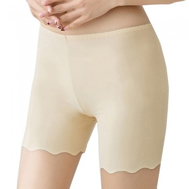 Cosy Seamfree Ice Silk Wave Cut Hip-lifting Stretchy Breathable Thin Boyshorts