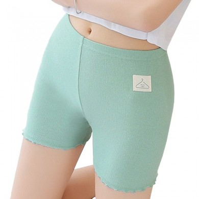 Comfortable Breathable Stretchy Screw Thread Cotton Mid Waist Boyshorts Panties