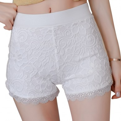 Plus Size Thirds Boyshorts Lace Anti Sicurezza svuotata Pantaloni
