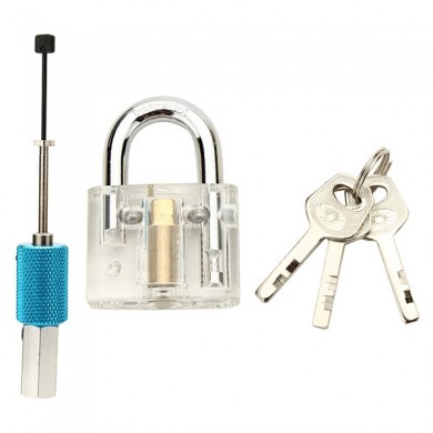 DANIU Disc Type Transparent Padlock with Disc Detainer Locksmith Tools Locksmith Training Skill Set