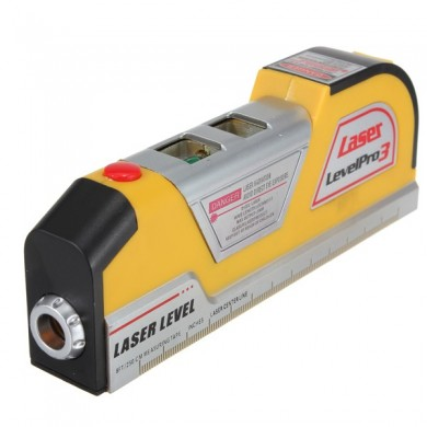 LV02 Laser Level Horizon Vertical Measure Tape 8FT Aligner Ruler