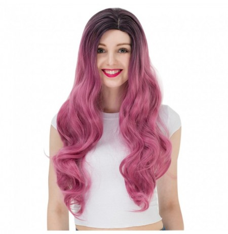 Gradient Color Long Wavy Synthetic Wig