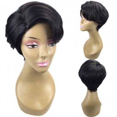 Women Natural Black Short Bob Hair Ombre Wigs