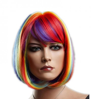 Colorful BOB Head Anime Rainbow Wigs
