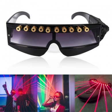 5MW 650nm Stage Red Laser Glasses Cool DJ Laser Glasses