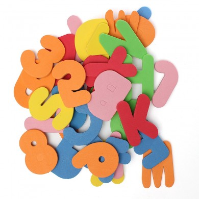 36 Pieces of Alphanumeric Early Education Floating Bath Puzzle Foam Toys
