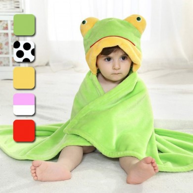 Cute Animal Cartoon Baby Infant Wrap Parisarc Soft Flannel Blanket Quilt Bathrobe