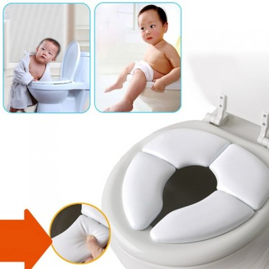 Baby Toddler Potty Soft Cushion Traveller Padded Toilet Training Folding Seat