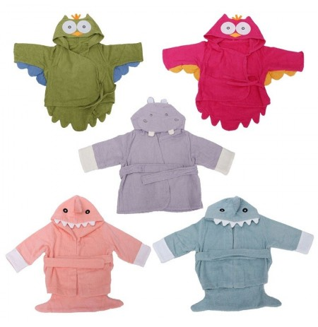 Animal Cartoon Owl Shark Flusspferd Baby Infant Kapuzen Wrap Bademantel Badewanne Strandtücher