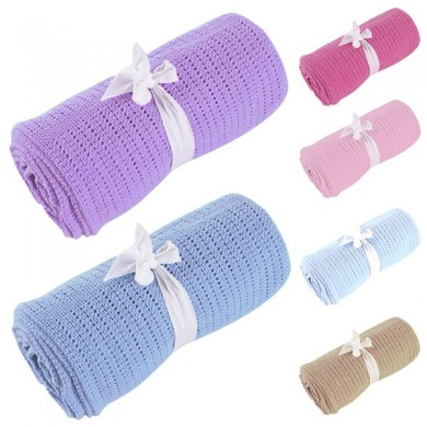 Vvcare BC-TK001 9 Colors Soft Baby Blanket Toddler Breathable Cotton Swaddle Bath Sleeping Blanket