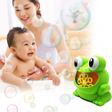 Frog Automatic Bubble Blower Maker Music Machine Bath Children Kids Outdoor Toy Bubble Blower