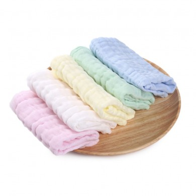 XIAOMI Bestkids Baby Cotton Baby Towel 5Pcs/Set Gauze Baby Small Square Small Towel Strong Water Absorption