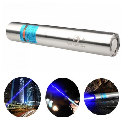 U King ZQ-J11 473nm Blue High Power Beam Buring Laser Flashlight With EU Charger