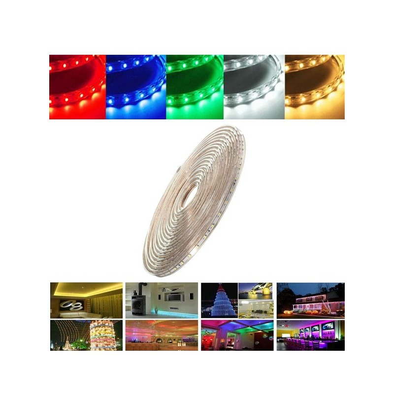 7M 24.5W Waterproof IP67 SMD 3528 420 LED Strip Rope Light Christmas Party Outdoor AC 220V (Color: Red) фото