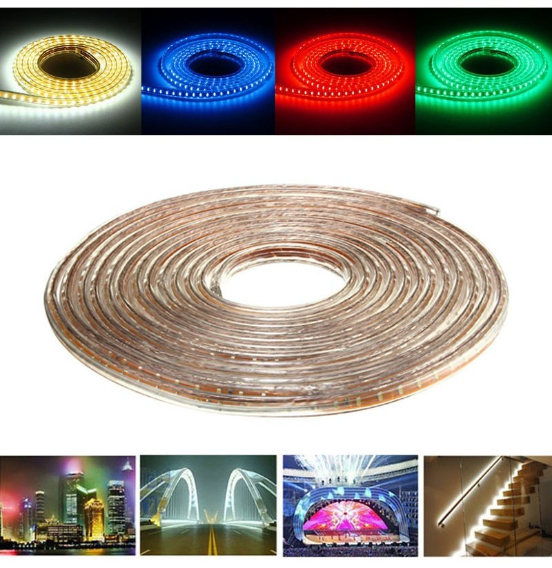 10M SMD3014 Waterproof LED Rope Lamp Party Home Christmas Indoor/Outdoor Strip Light 220V (Color: Red) фото