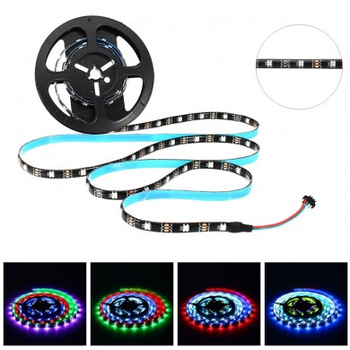 LUSTREON 1M 2M 3M 4M 5M étanche 30LEDs / M 5050 GRB GT2812 Smart IC Flexiable LED Light Strip DC5V