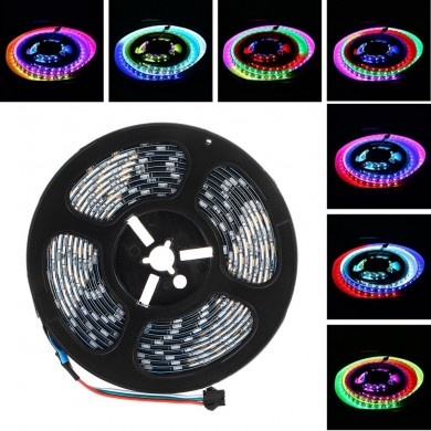 LUSTREON 1M 2M 3M 4M 5M IP65 60LEDs / M 5050 GRB GT2812 Couleur intelligente IC Smart LED Light Strip DC5V