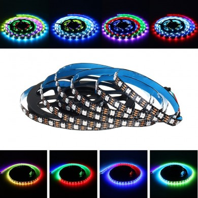 LUSTREON 1M 2M 3M 4M 5M 60LED / M 5050 GRB non impermeabili GT2812 Magia Smart IC LED Strip Light DC5V
