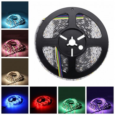 DC12V 5M RGB CCT 5050 5054 SMD Impermeabile LED Strip String Light Holiday Garden Decorazione per esterni