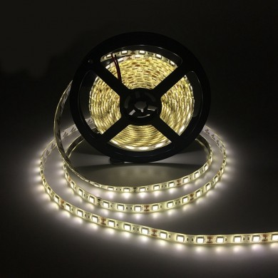 DC12V 5M SMD5050 IP65 Waterproof a luz de tira flexível da fita do branco 300LED puro branco morno