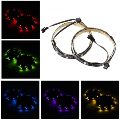 2PCS 50CM SMD5050 Impermeabile RGB LED Strip Light per PC Computer DC12V