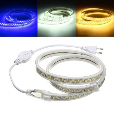 1M Waterproof SMD5730 5630 Flexible LED Strip Tape Rope Light for Home Decoration AC220V