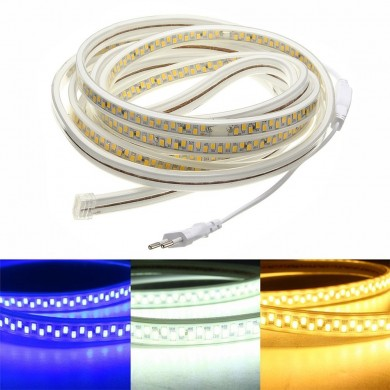 AC220V 5M Waterproof SMD5730 5630 Dimmable LED Strip Rope Light EU Plug for Home Decoration