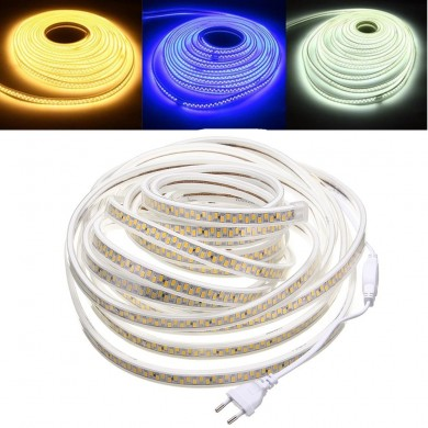 10M Impermeabile SMD5730 5630 Dimmerabile LED Strip Rope Light Plug EU per la decorazione domestica AC220V