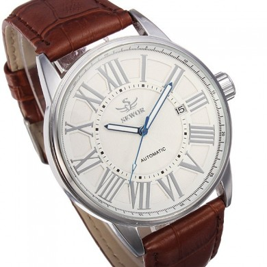 SEWOR Automatic Mechanical Watch Simple Style Analog Display Men Wrist Watch