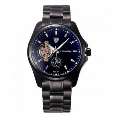 TEVISE Brand Mechanical Watch Fashion Stainless Steel Strap Business Men Wrist Watch 8377-001