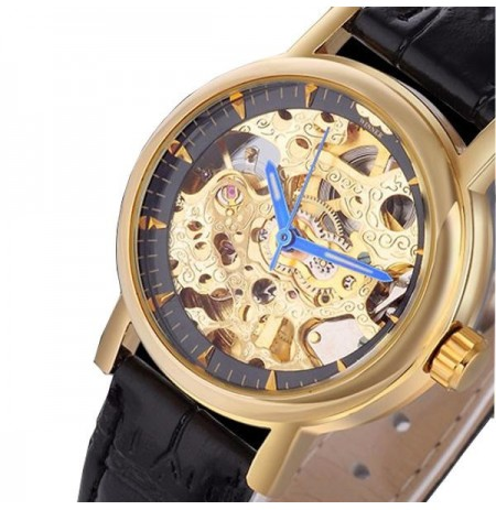 WINNER WU8053 Luxury Automatic Mechanical Watch  Classic Leather Strap Women Wrist Watch