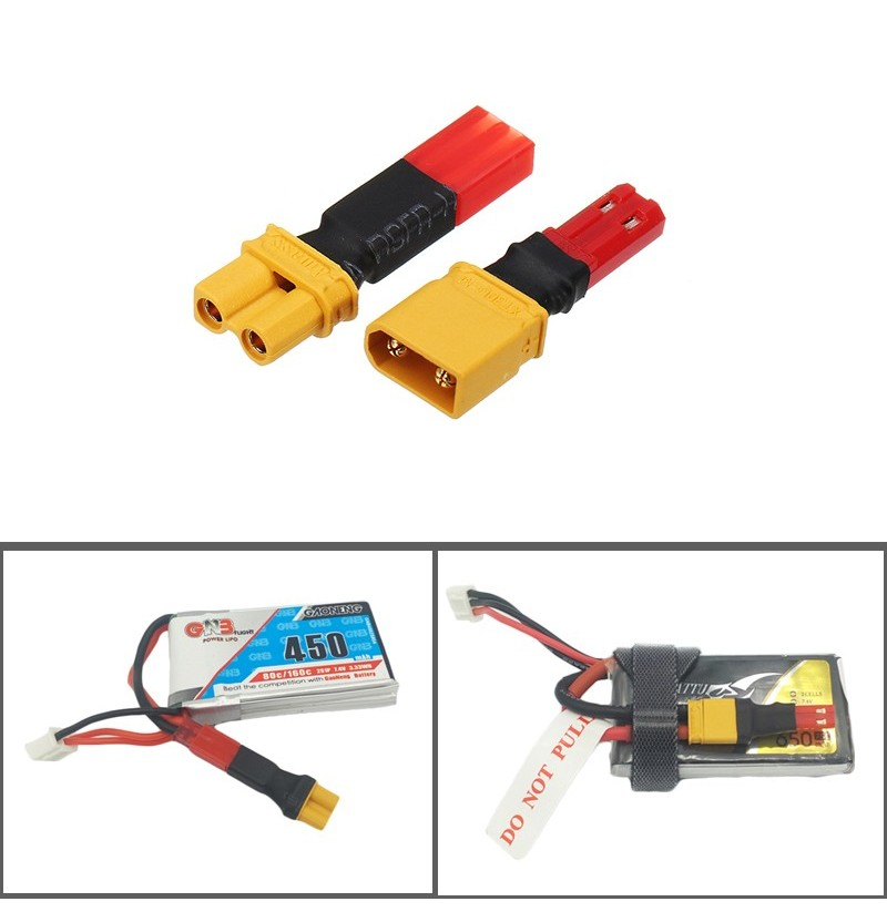 2S 7.4V Lipo Battery Adapter Connector XT30 to JST Male Female Plug (type: B) фото