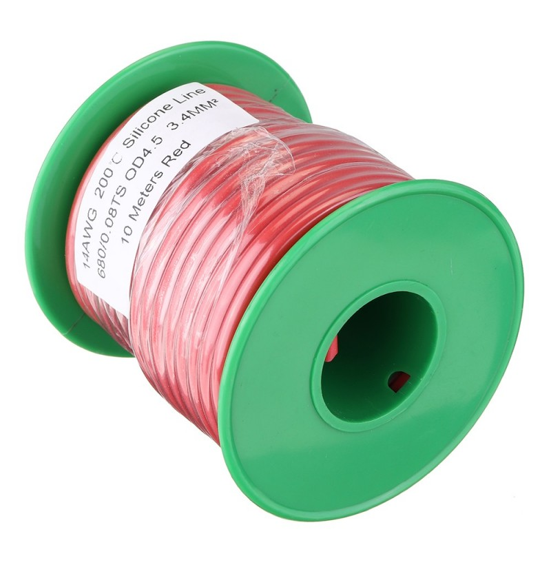 10M 14AWG Soft Silicone Wire Cable High Temperature Tinned